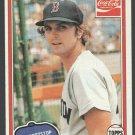 Boston Red Sox Glenn Hoffman 1981 Topps Coca Cola Coke Baseball Card 5 nr mt