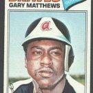 Atlanta Braves Gary Matthews 1977 Topps Baseball Card 194 ex/em