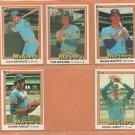 1981 1982 1983 1984 Donruss Seattle Mariners Team Lot 34 diff Julio Cruz Mike Moore RC +