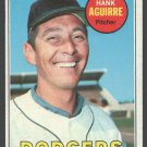 Los Angeles Dodgers Hank Aguirre 1969 Topps Baseball Card 94 vg/ex