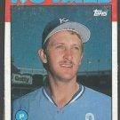 Kansas City Royals Bret Saberhagen 1986 Topps Wax Box Bottom Baseball Card # O