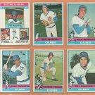 1976 Topps Chicago Cubs Team Lot Rick Monday Rick Reuschel Bill Madlock Andy Thornton