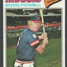 Cleveland Indians Boog Powell 1977 Topps Baseball Card 206 em+