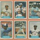 1982 Fleer Toronto Blue Jays Team Lot 19 George Bell RC Dave Stieb John Mayberry Lloyd Moseby +