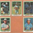 1981 1982 1984 Donruss Toronto Blue Jays Team Lot Dave Steib George Bell Ernie Whitt +