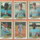 1981 1982 1983 1984 Donruss Texas Rangers Team Lot Buddy Bell Jim Sundberg Al Oliver