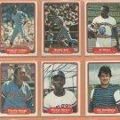 1982 Fleer Texas Rangers Team Lot 23 Buddy Bell Fergie Jenkins Al Oliver Jim Sundberg +