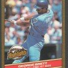 Kansas City Royals George Brett 1986 Donruss Highlights 3 All Time Hit Man nm