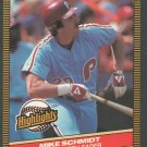 Philadelphia Phillies Mike Schmidt 1986 Donruss Highlights 4 Phillies RBI Leader nm