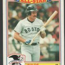 Boston Red Sox Wade Boggs 1987 Topps Glossy All Star Insert 15 nr mt