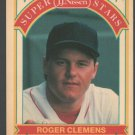 Boston Red Sox Roger Clemens 1989 Nissen Bread Baseball Card 16 nr mt