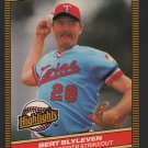 Minnesota Twins Bert Blyleven 1986 Donruss Highlights 31 3000th Strikeout