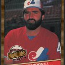Montreal Expos Jeff Reardon 1986 Donruss Highlights 14 Pitcher of the Month nm
