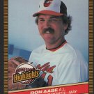 Baltimore Orioles Don Aase 1986 Donruss Highlights 12 Pitcher of the Month nm