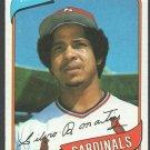 St Louis Cardinals Silvio Martinez 1980 Topps Baseball Card 496 nr mt