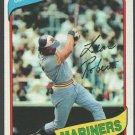 Seattle Mariners Leon Roberts 1980 Topps Baseball Card 507 nr mt