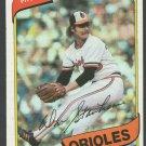Baltimore Orioles Don Stanhouse 1980 Topps Baseball Card 517 nr mt