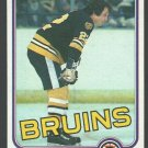 Boston Bruins Brad Park 1981 Topps Hockey Card 72 nr mt