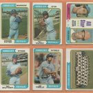 1974 Topps Kansas City Royals Team Lot 26 Amos Otis Freddie Patek Hal McRae Lou Piniella
