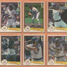 1982 1983 1984 Donruss Chicago Cubs Team Lot 20 Ryne Sandberg RC Joe Carter RC Larry Bowa Jody Davis