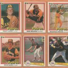 1981 1982 1983 1984 Donruss San Diego Padres Team Lot 21 Dave Winfield Randy Jones Randy Bass RC