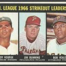 Strikeout Leaders Dodgers Sandy Koufax Phillies Jim Bunning 1967 Topps 238