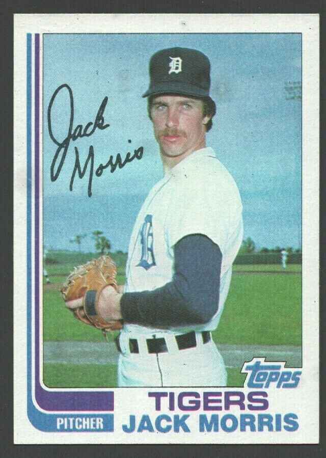 Detroit Tigers Jack Morris 1982 Topps Baseball Card 450 nr mt