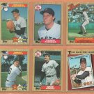 1987 Topps Boston Red Sox Team Lot 30 diff Roger Clemens Wade Boggs Carl Yastrzemski
