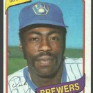 Milwaukee Brewers Dick Davis 1980 Topps Baseball Card 553 nr mt