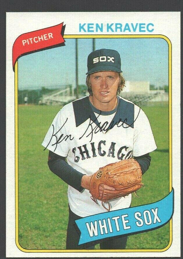 Chicago White Sox Ken Kravec 1980 Topps Baseball Card 575 nr mt