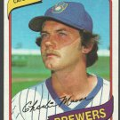 Milwaukee Brewers Charlie Moore 1980 Topps Baseball Card 579 nr mt