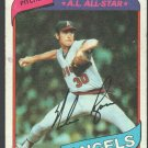 California Angels Nolan Ryan 1980 Topps Baseball Card 580 g/vg