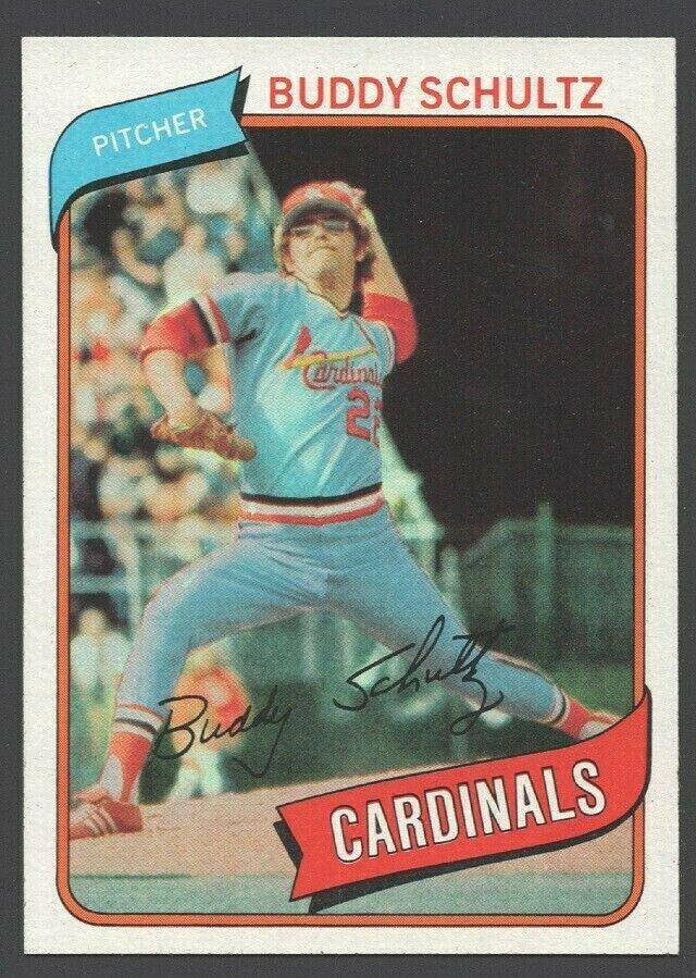 St Louis Cardinals Buddy Schultz 1980 Topps Baseball Card 601 nr mt