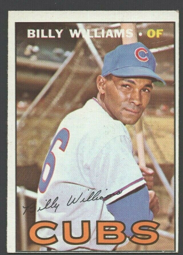 Chicago Cubs Billy Williams 1967 Topps Baseball Card 315 ex/em