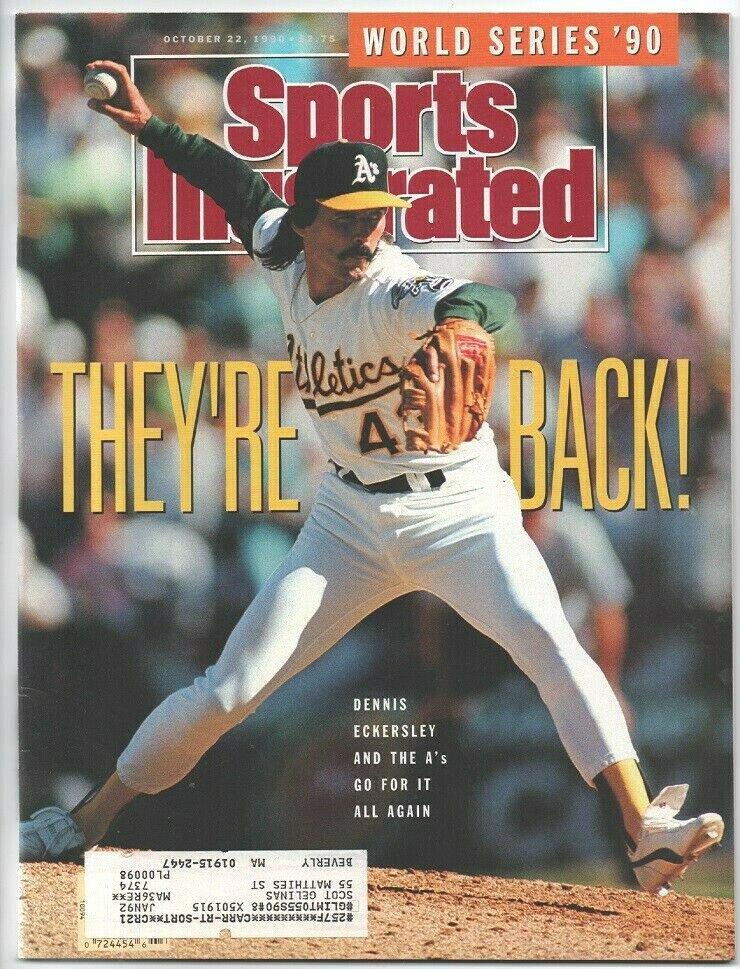 1990 Sports Illustrated Oakland Athletics Cincinnati Reds Cleveland Browns Niners New York Knicks