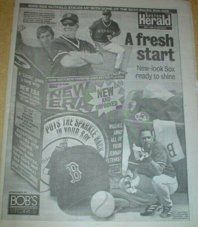 2002 Boston Red Sox Season Preview Newspaper Supplement