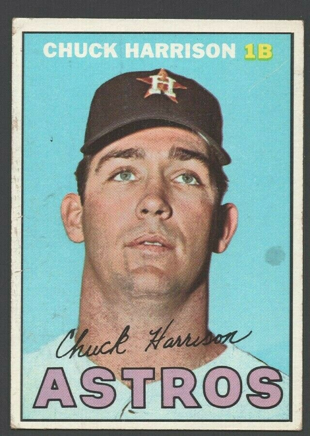 Houston Astros Chuck Harrison 1967 Topps Baseball Card 8 g/vg