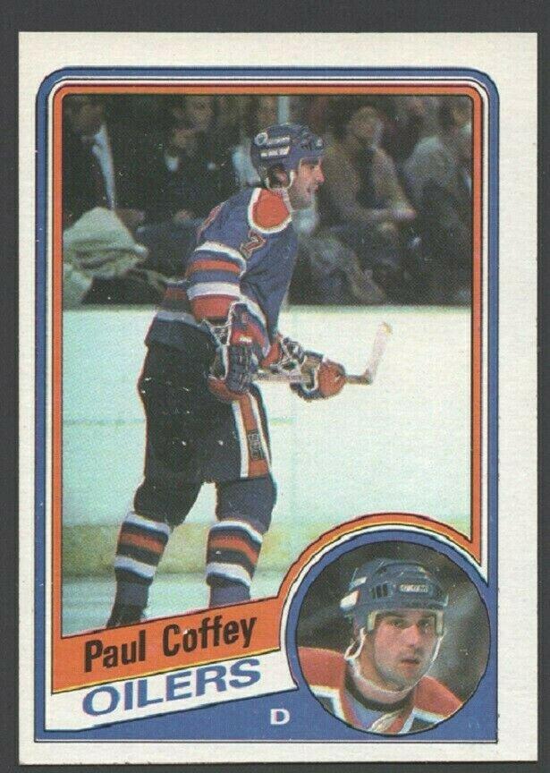 Edmonton Oilers Paul Coffey 1984 Topps Hockey Card 50 nr mt