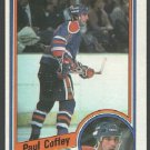 Edmonton Oilers Paul Coffey 1984 Topps Hockey Card 50 nr mt