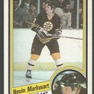 Boston Bruins Nevin Markwart Rookie Card RC 1984 Topps Hockey Card 7 nr mt