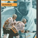 Boston Bruins 1989 Pocket Schedule Ray Bourque Cam Neely TV38 Budweiser