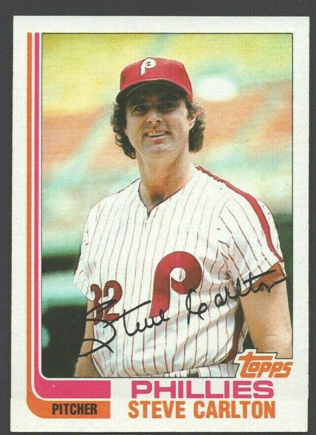 Philadelphia Phillies Steve Carlton 1982 Topps Baseball Card 480 nr mt