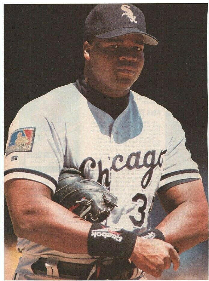 Chicago White Sox Frank Thomas 1994 Pinup Photo 8x10