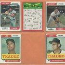 1974 1975 Topps Detroit Tigers Team Lot 17 diff Mickey Stanley Ben Oglivie Joe Coleman Aurelio