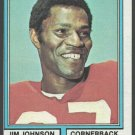 San Francisco Forty Niners 49ers Jim Johnson 1974 Topps Football Card 430 ex mt