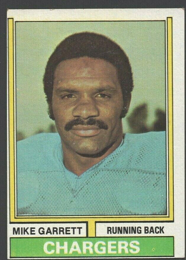 San Diego Chargers Mike Garrett 1974 Topps Football Card 437 ex