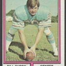 Houston Oilers Bill Curry 1974 Topps Football Card 441 ex/em