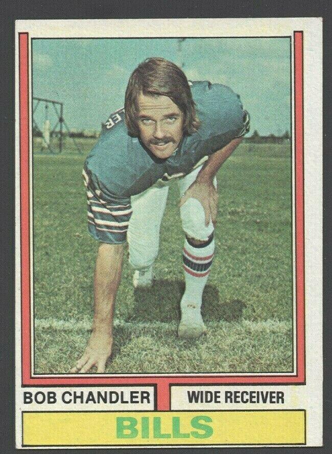 Buffalo Bills Bob Chandler 1974 Topps Football Card 446 ex/em