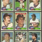 1981 Topps California Angels Team Lot 34 diff Rod Carew Don Baylor Bobby Grich Joe Rudi