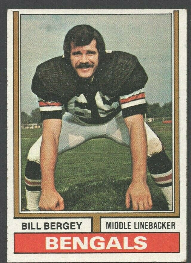 Cincinnati Bengals Bill Bergey 1974 Topps Football Card 447 ex/em